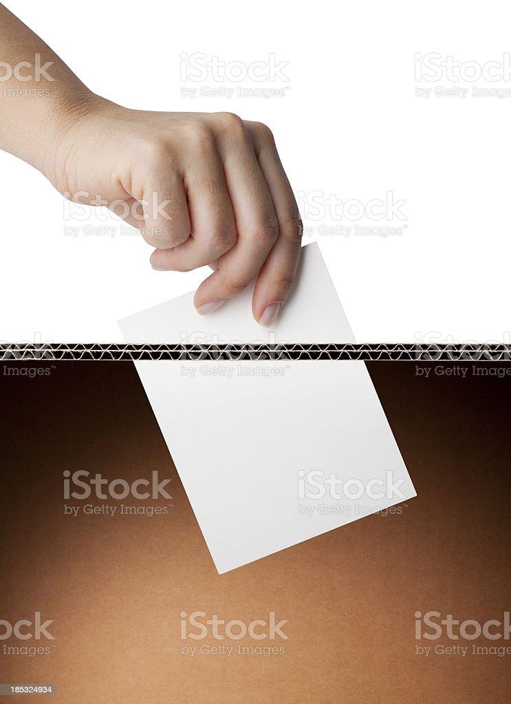Vote. Ballot box. stock photo