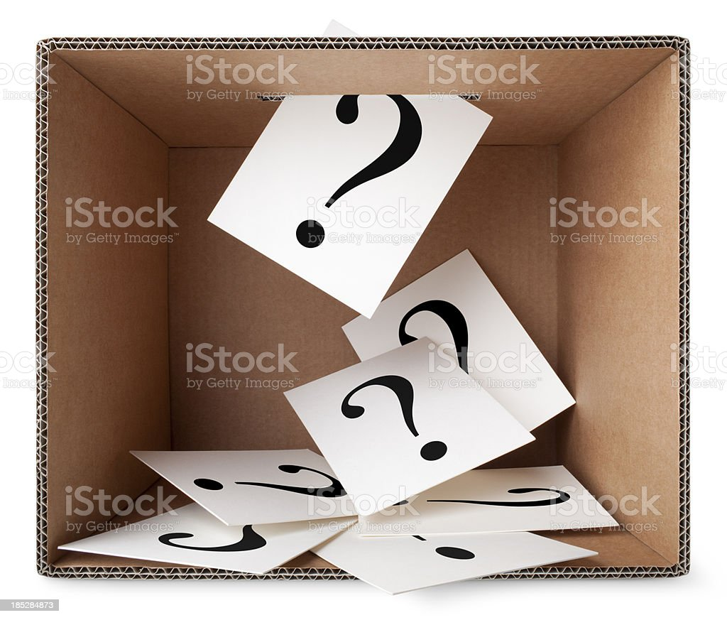 Vote. Ballots with question mark in the box. stock photo