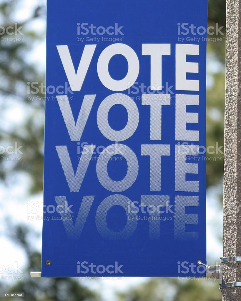 Vote Banner royalty-free stock photo