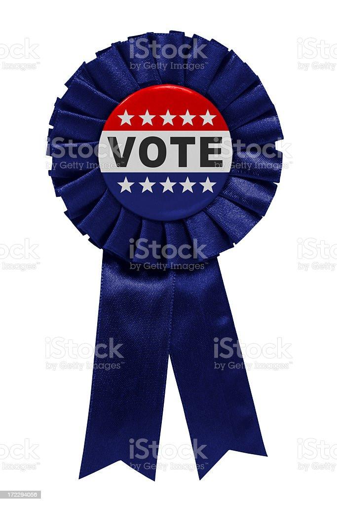 Vote blue ribbon stock photo
