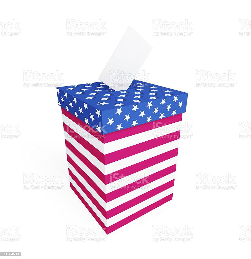 vote box usa on a white background royalty-free stock photo