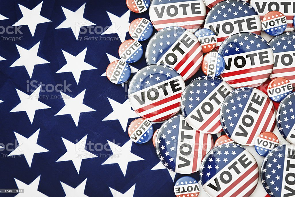 Vote button for the 2012 Election royalty-free stock photo