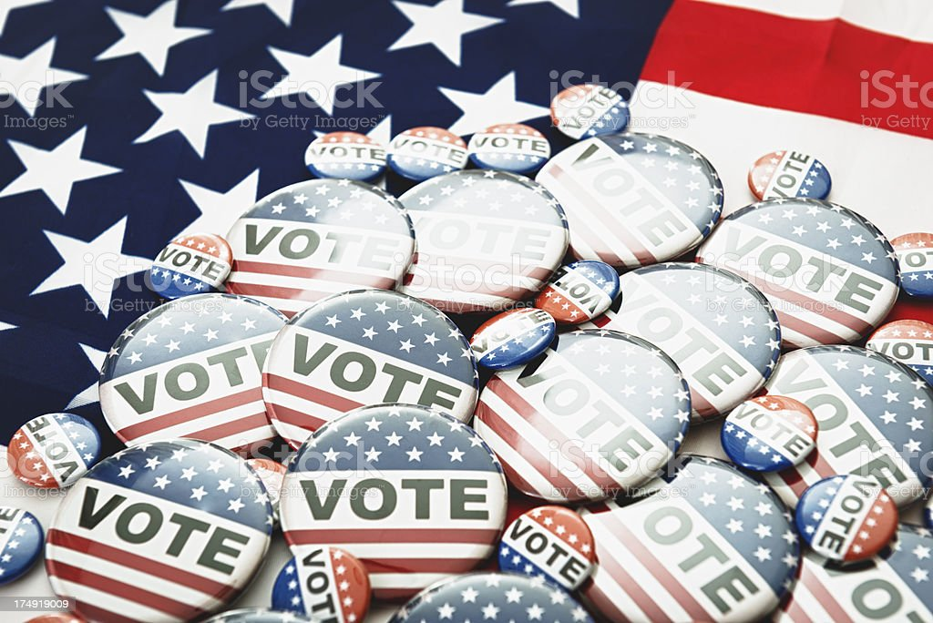 Vote button for the 2012 Election stock photo