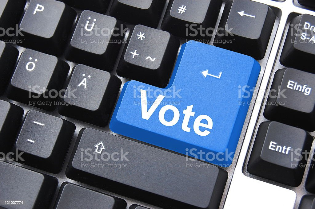 vote button royalty-free stock photo