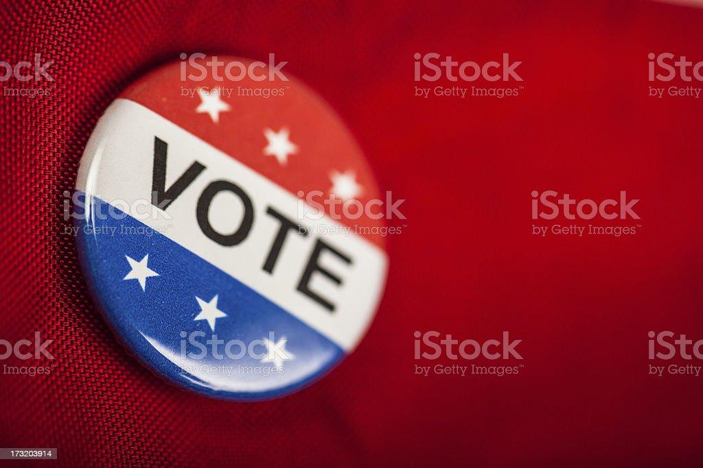 Vote button stock photo
