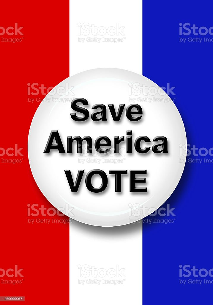 Vote Button. royalty-free stock photo