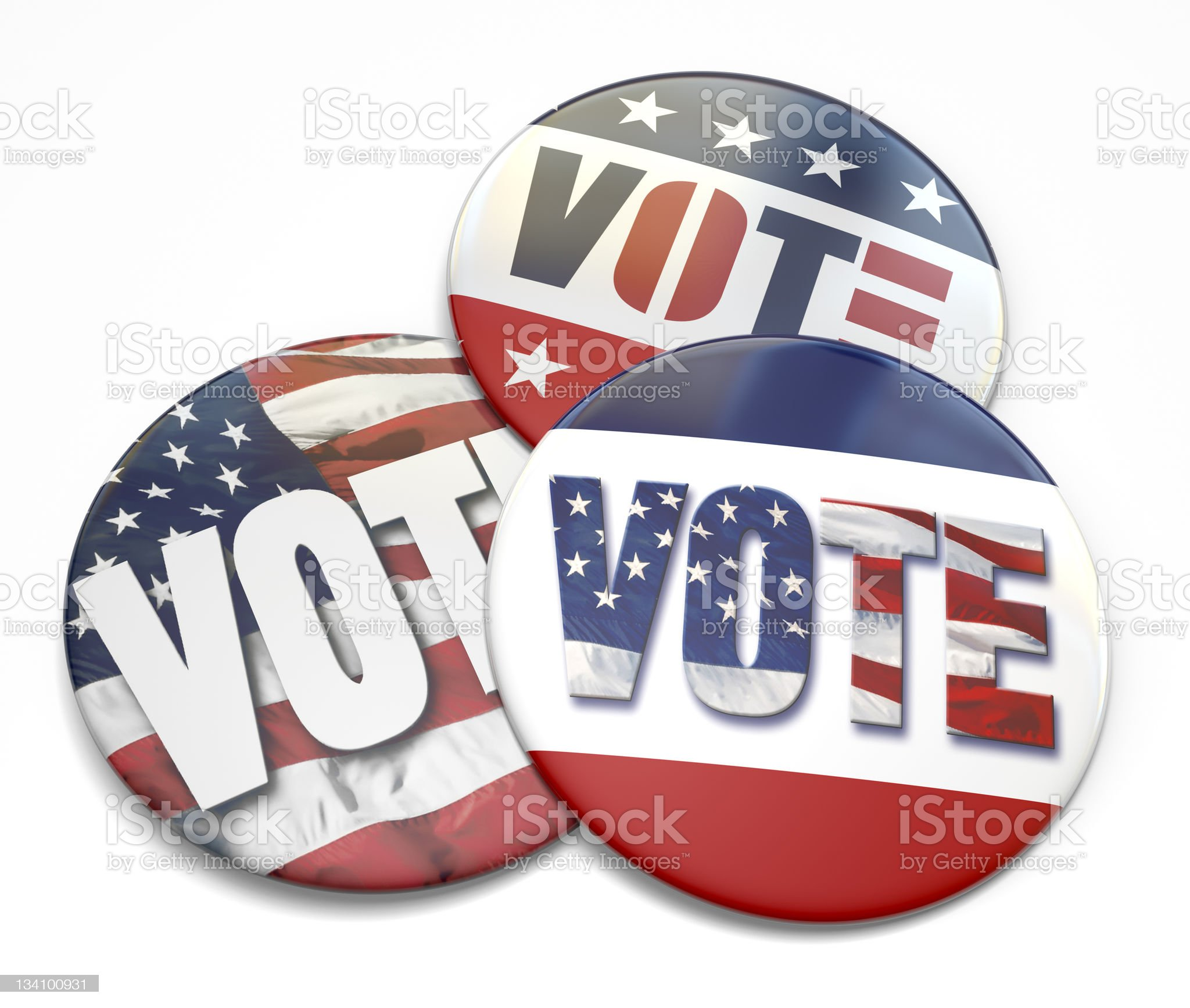 Vote Buttons royalty-free stock photo