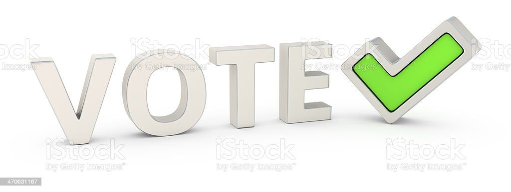 Vote correctly royalty-free stock photo