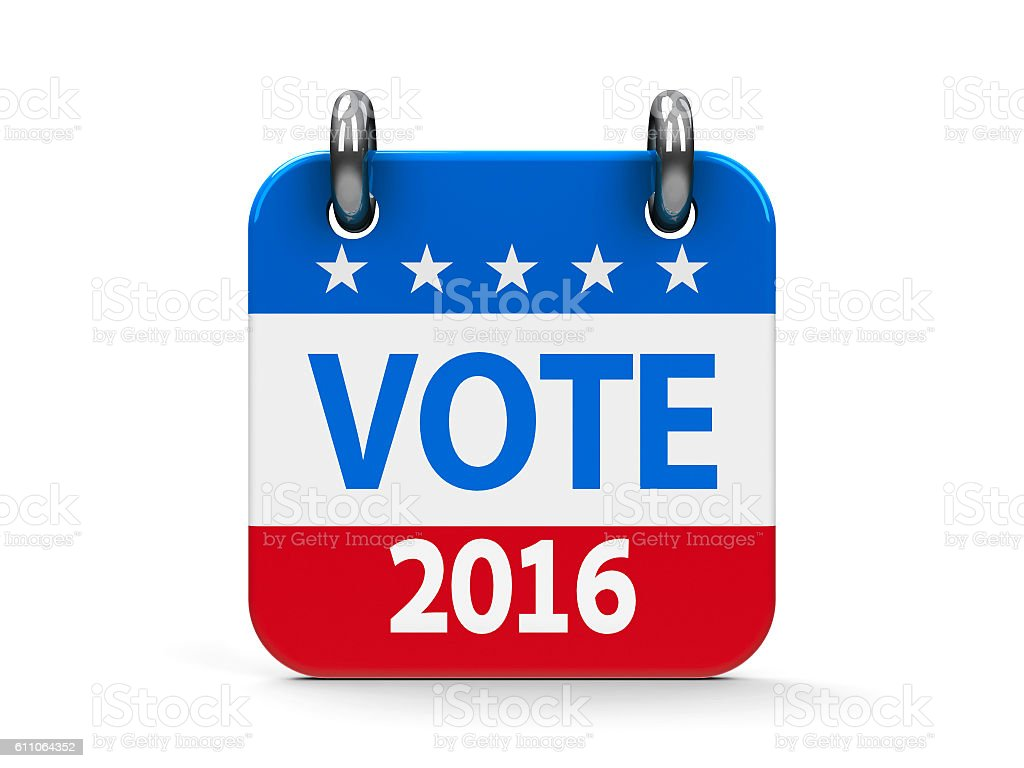 Vote election 2016 icon calendar stock photo
