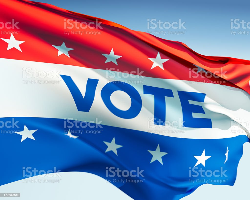 Vote Flag royalty-free stock photo