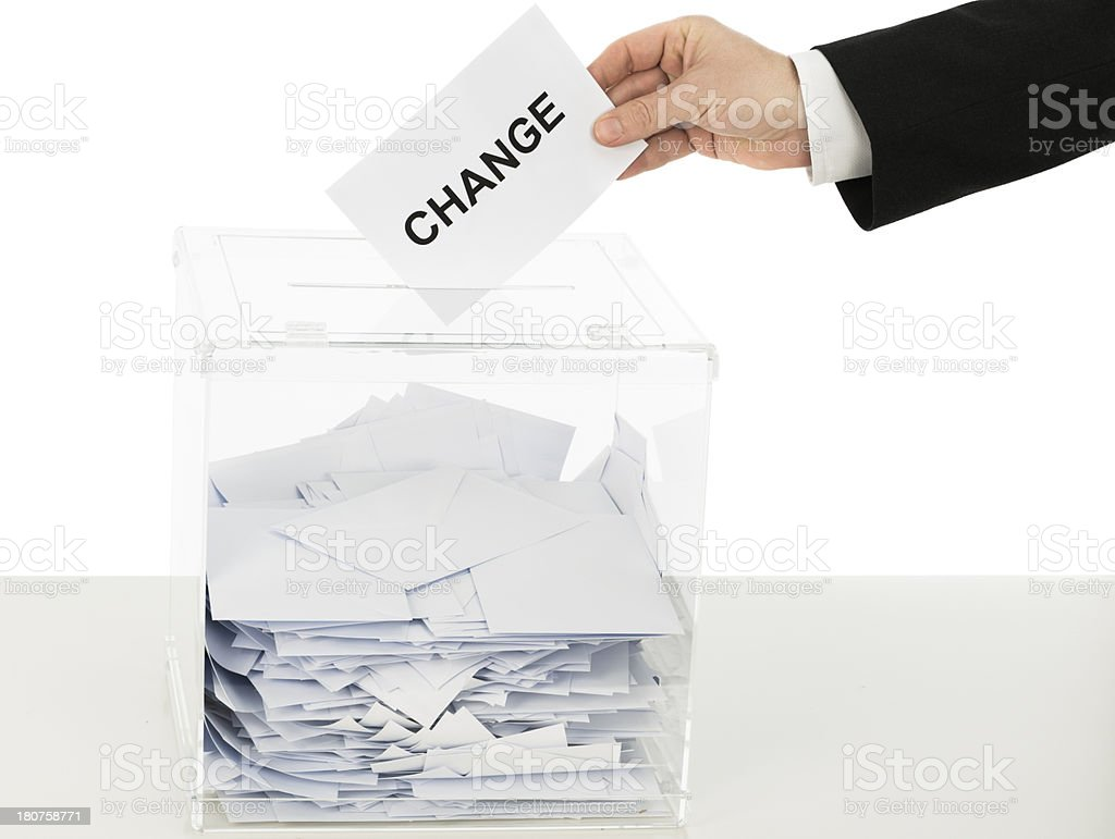 Vote for change stock photo