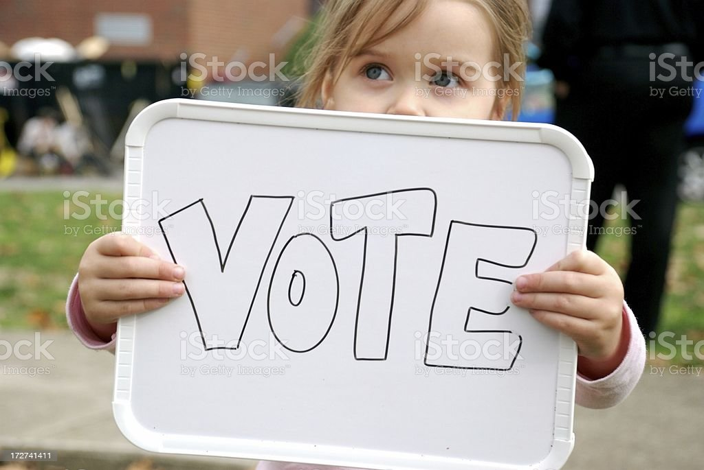 Vote For Her Future royalty-free stock photo
