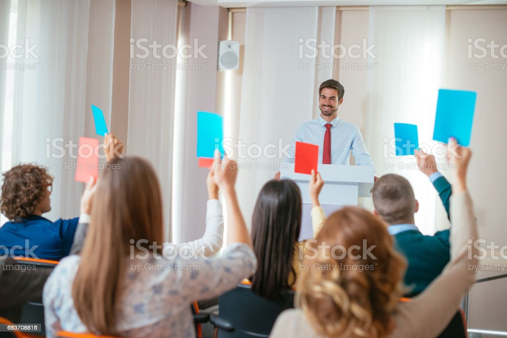 Vote for the best candidate stock photo