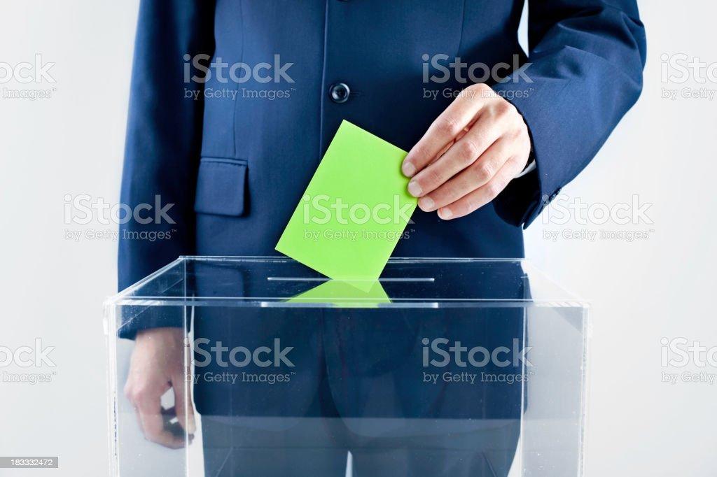 Vote Green! royalty-free stock photo