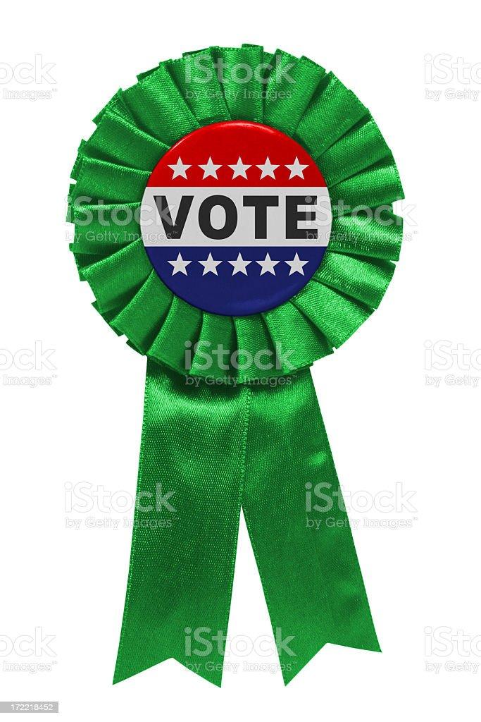 Vote green ribbon stock photo
