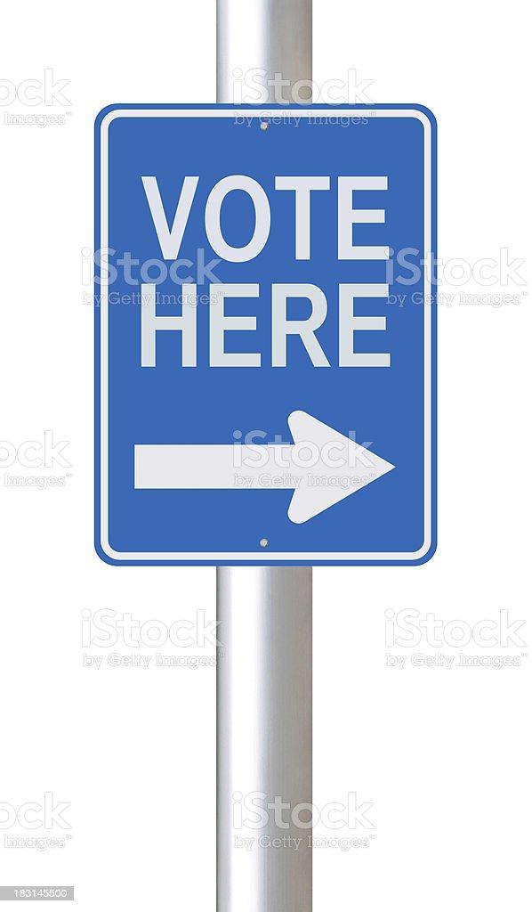 Vote Here royalty-free stock photo