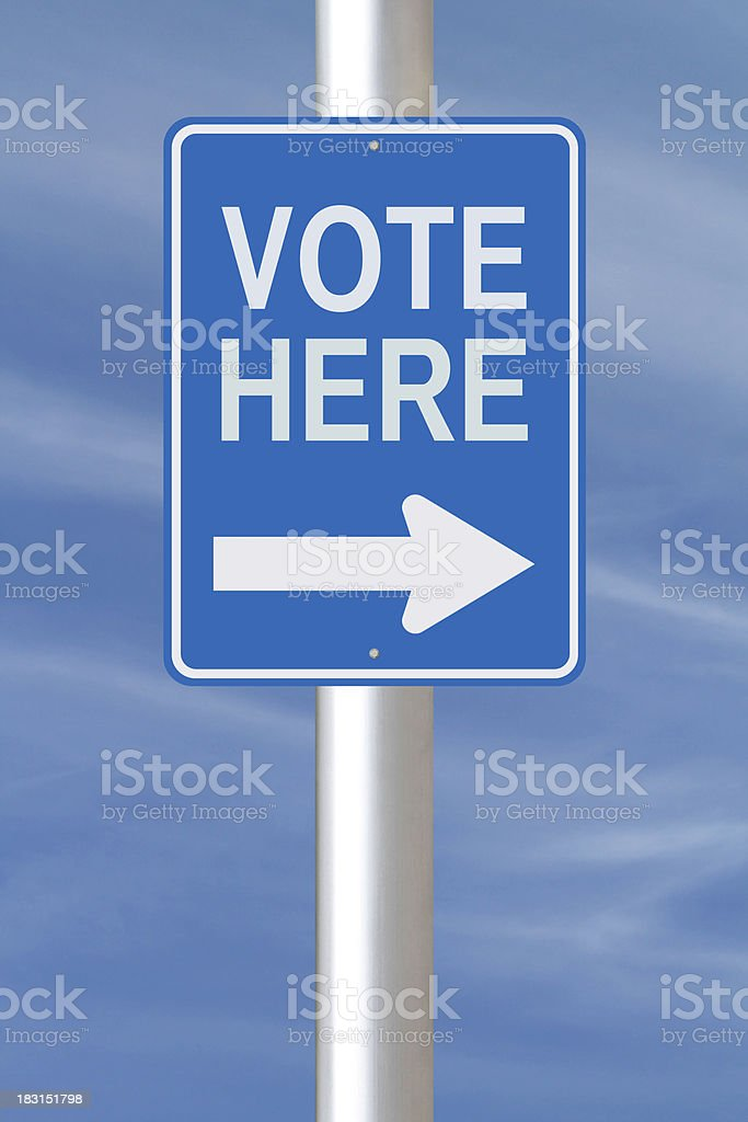 Vote Here royalty-free stock photo