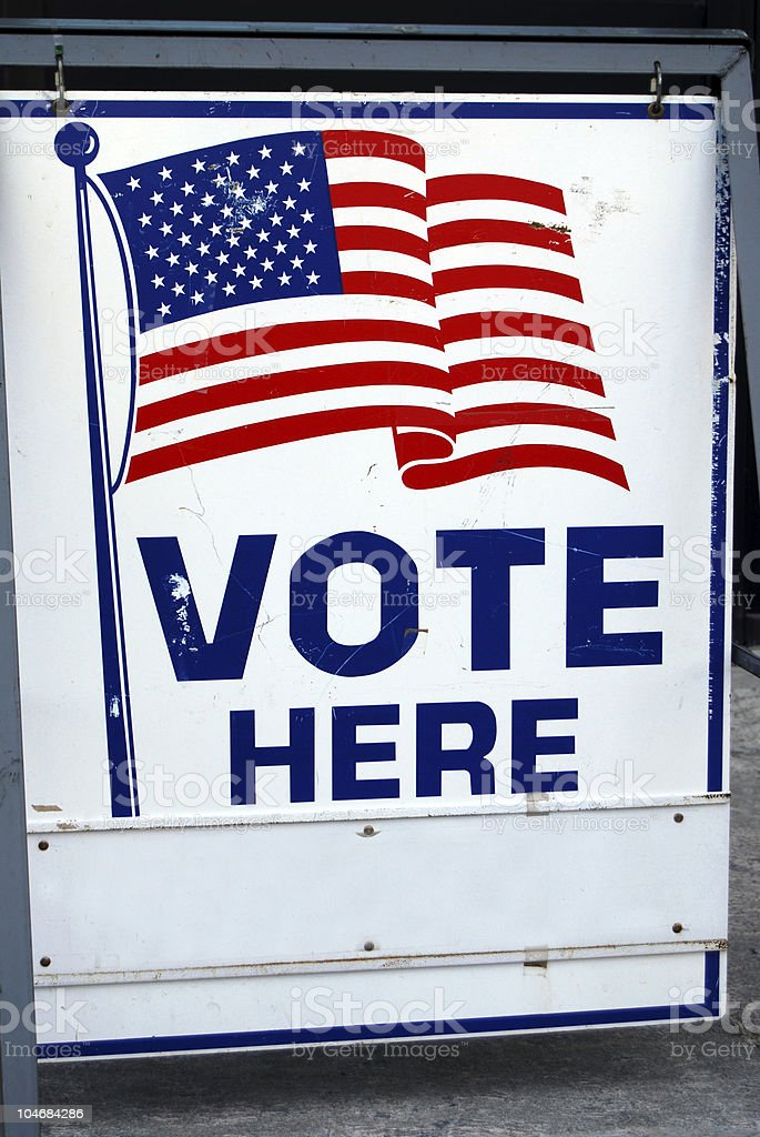 Vote Here sign royalty-free stock photo