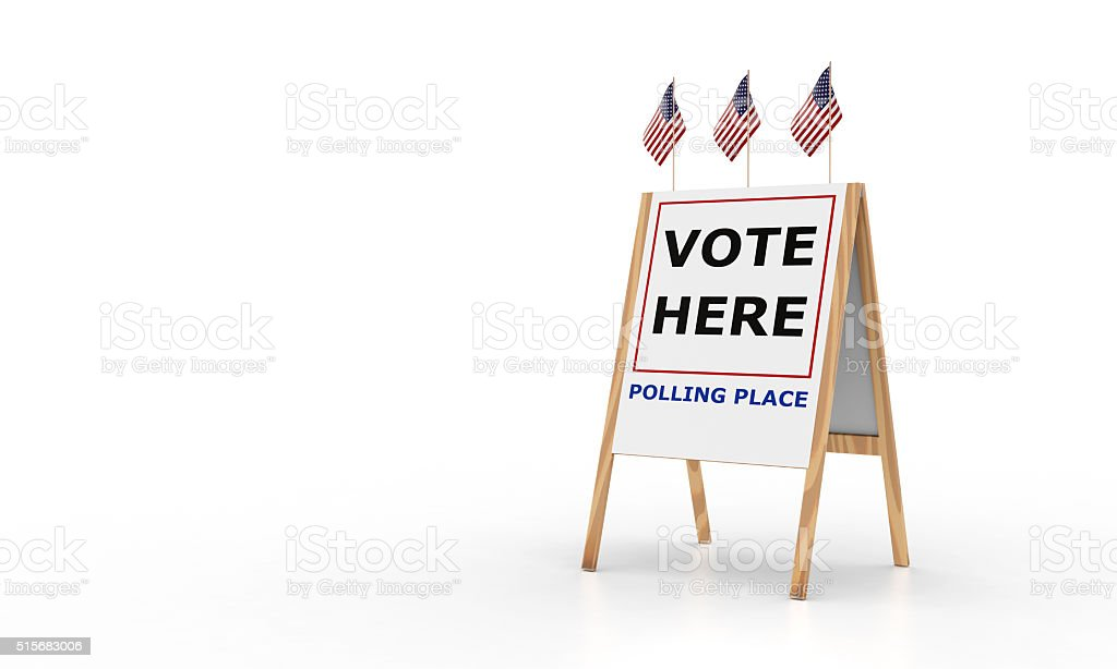 Vote Here Sign stock photo
