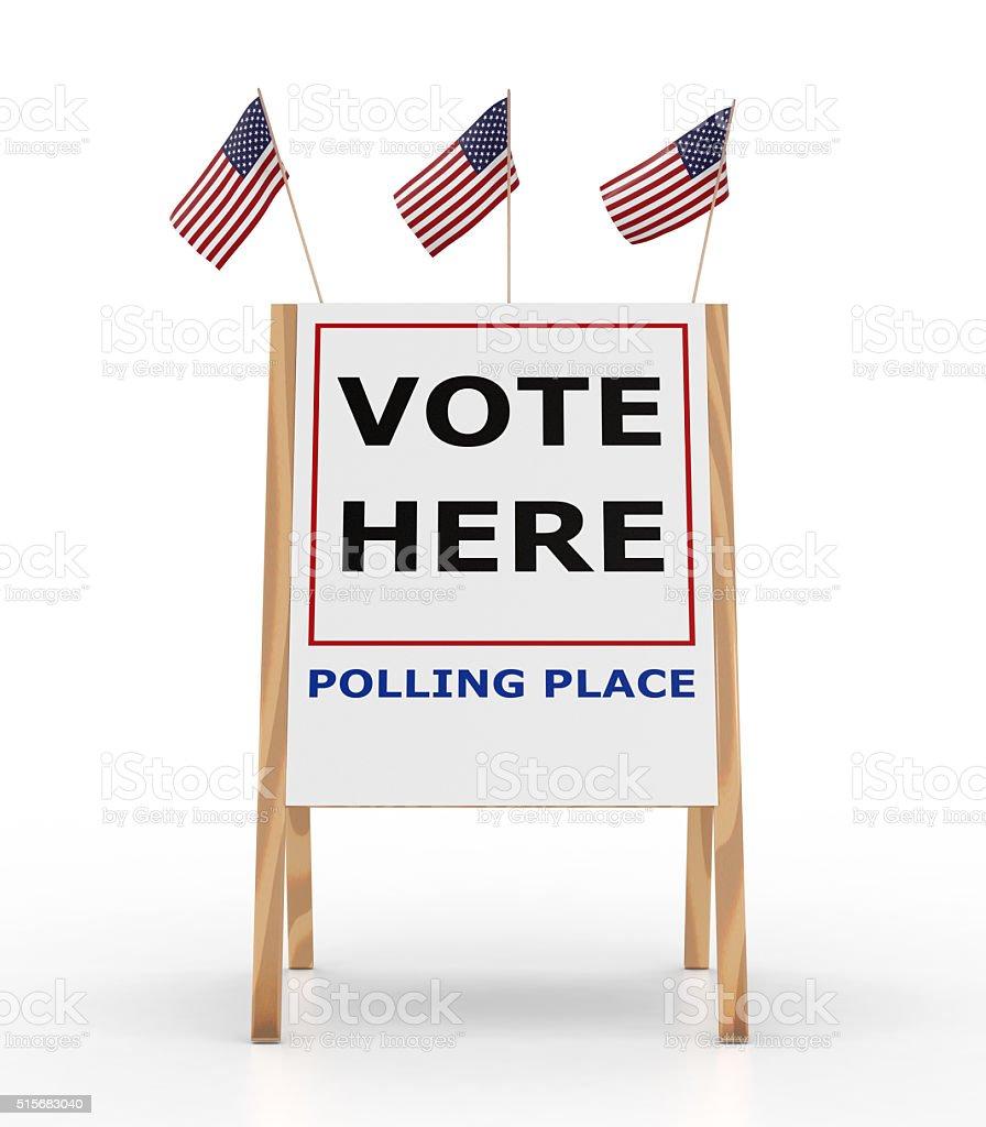 Vote Here Sign stock photo