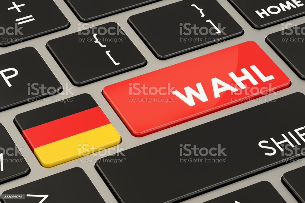 Vote in Germany, 'election' inscription concept. 3D rendering stock photo