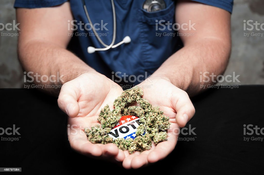 Vote medical canabis stock photo