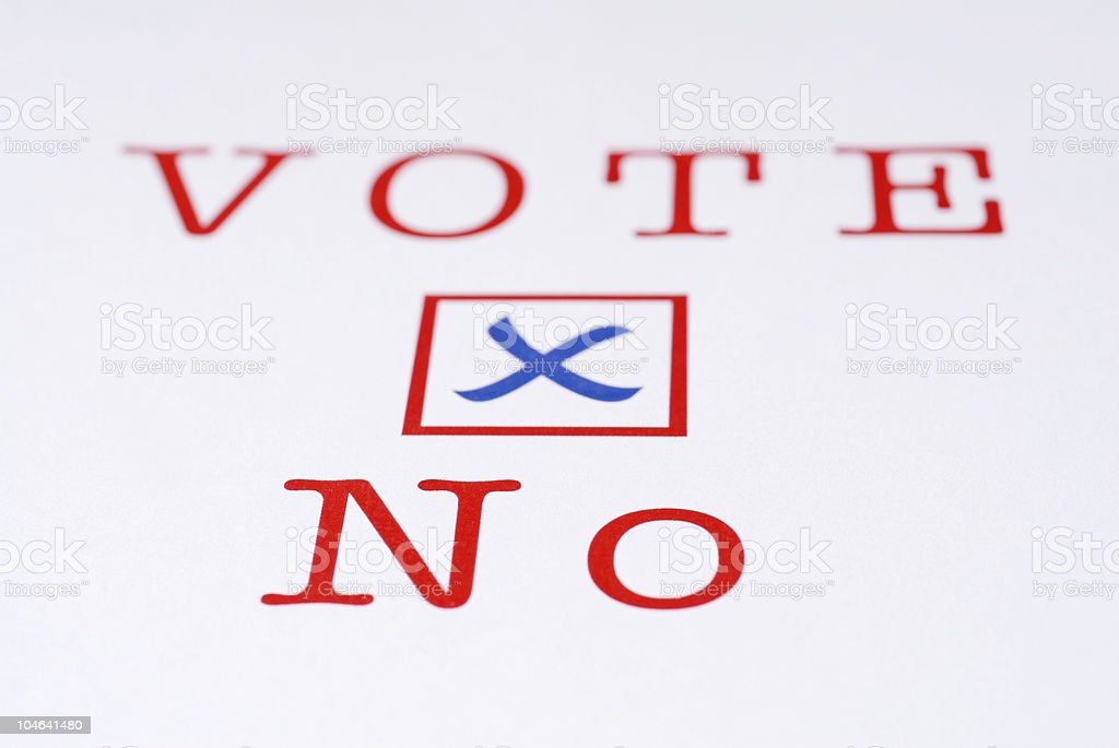 Vote No Close Up royalty-free stock photo