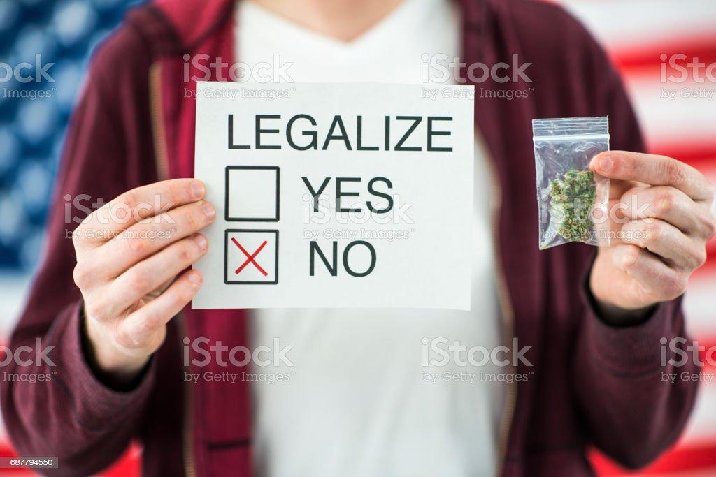 Vote no for Marijuana Cannabis Legalization stock photo