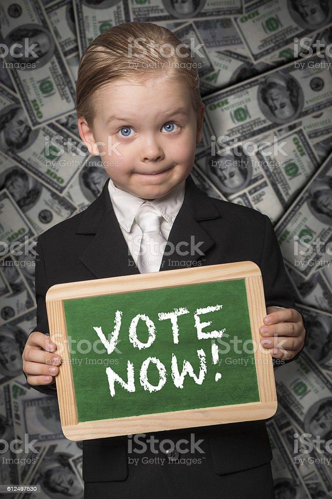 Vote now stock photo