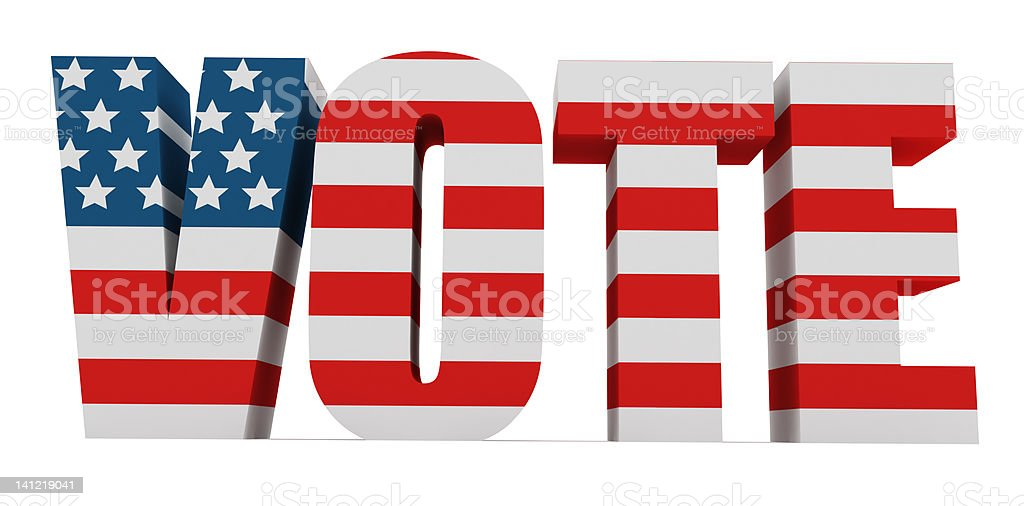 3D US Vote royalty-free stock photo