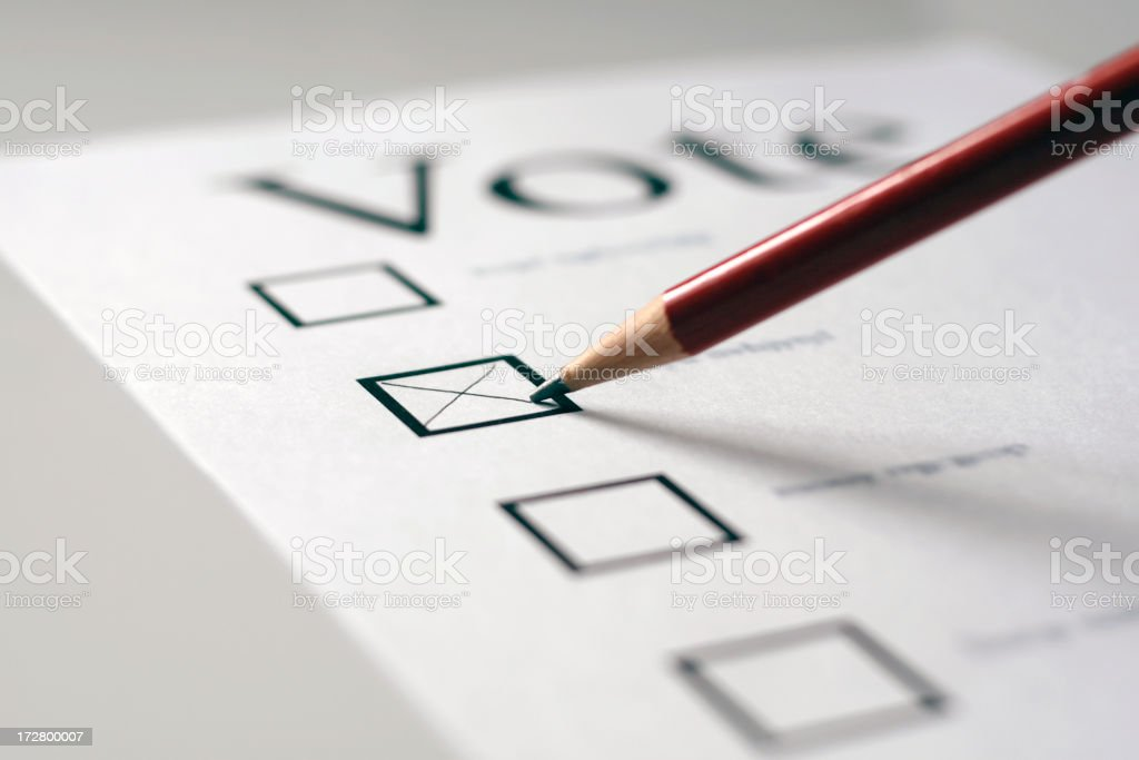 Vote stock photo