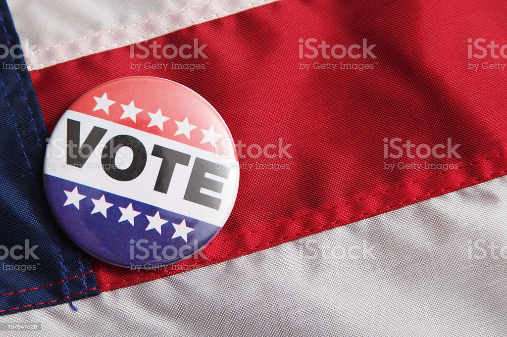 Vote Pin royalty-free stock photo