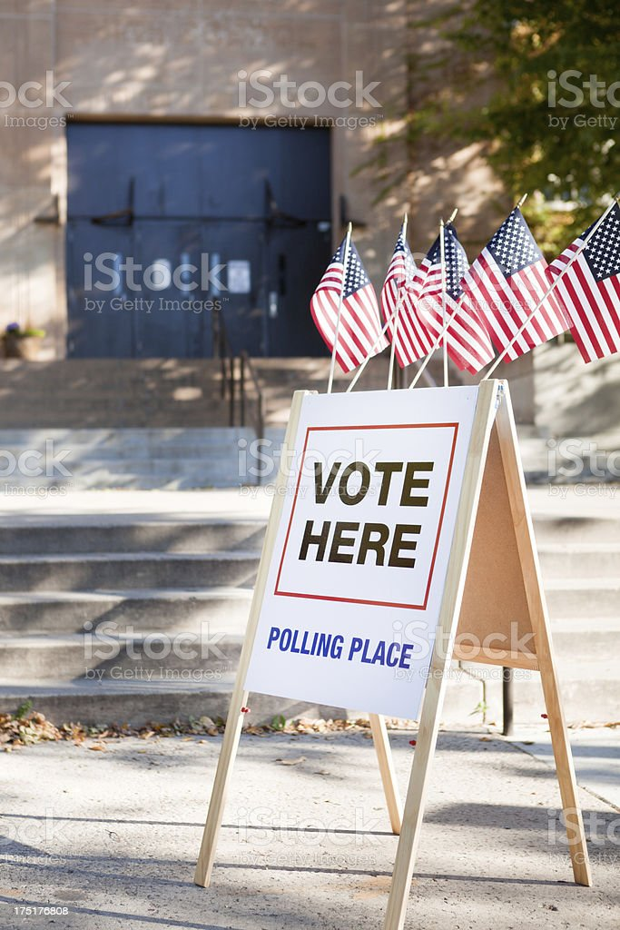 Vote Polling Place Station in USA royalty-free stock photo