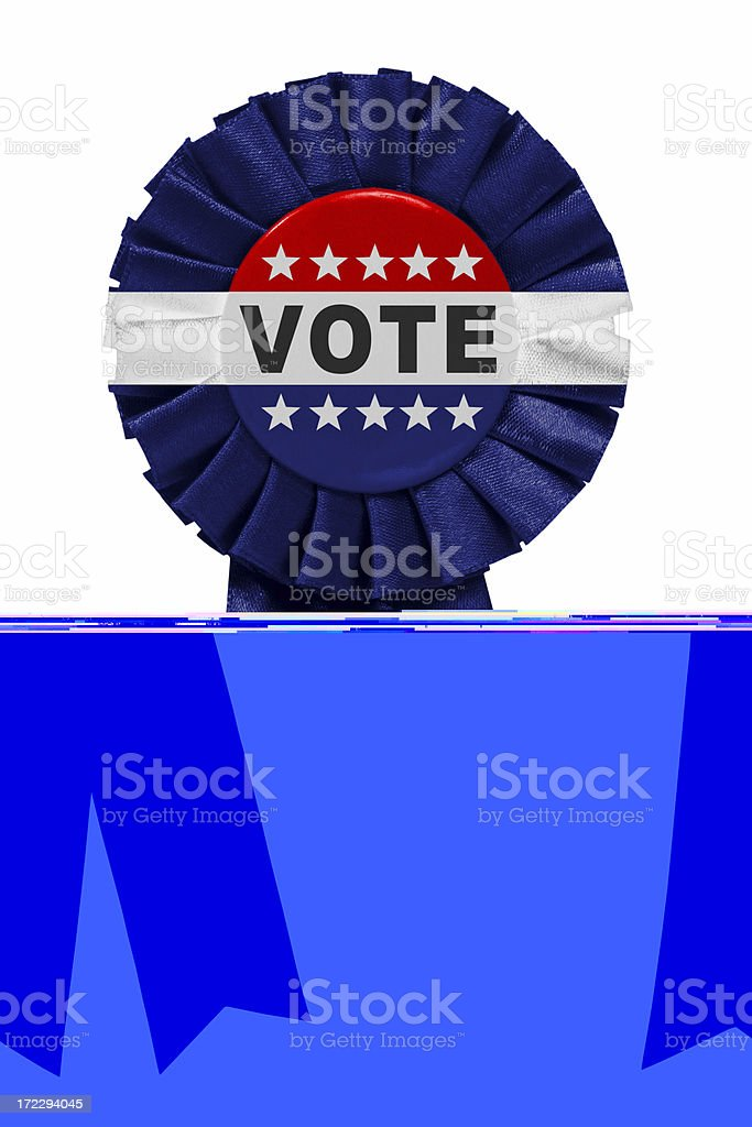 Vote ribbon stock photo