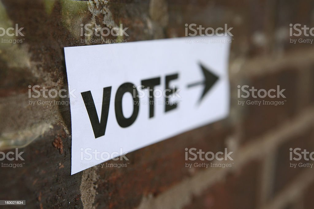 Vote Sign royalty-free stock photo