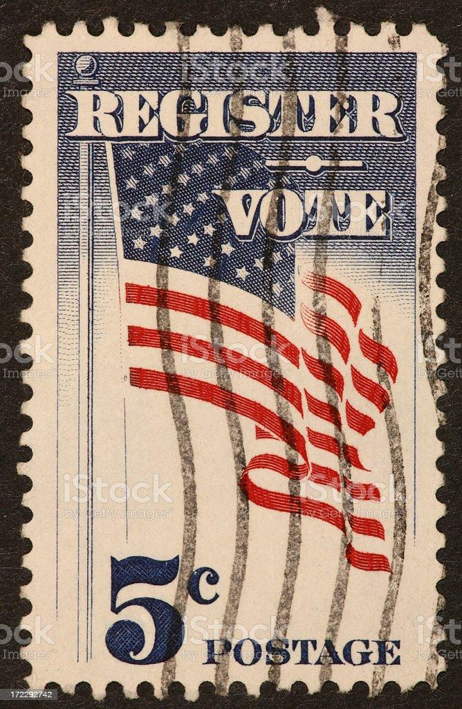 vote stamp 1960's royalty-free stock photo