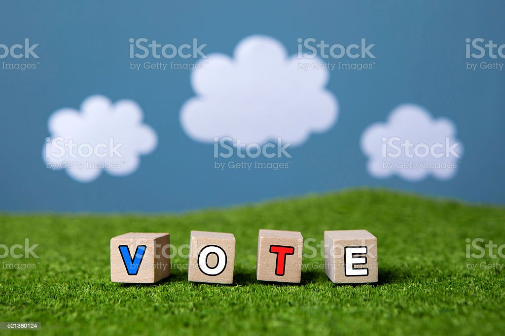 vote text stock photo