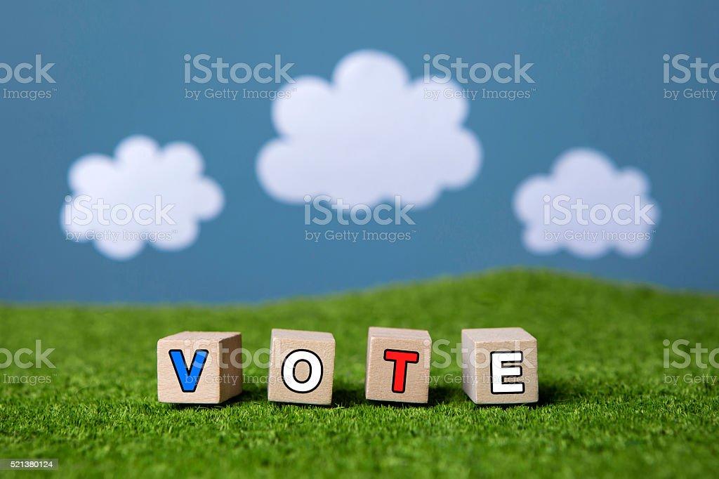vote text stock photo