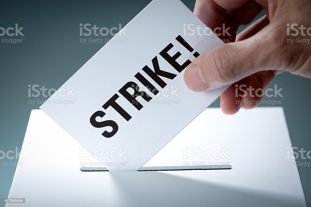 Vote to Strike for Labor Union and Employer Dispute stock photo