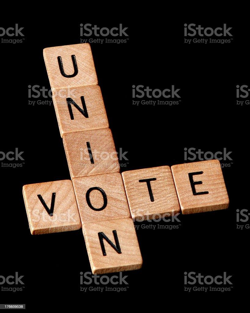 Vote Union stock photo