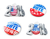 vote usa election badge button for 2016