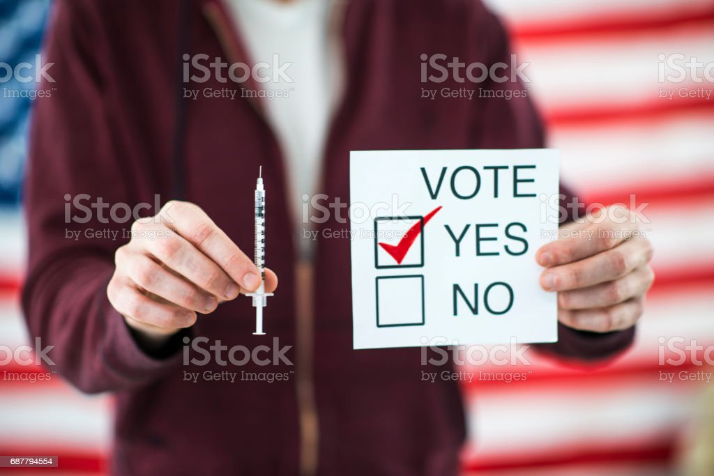 Vote Yes for Euthanasia stock photo
