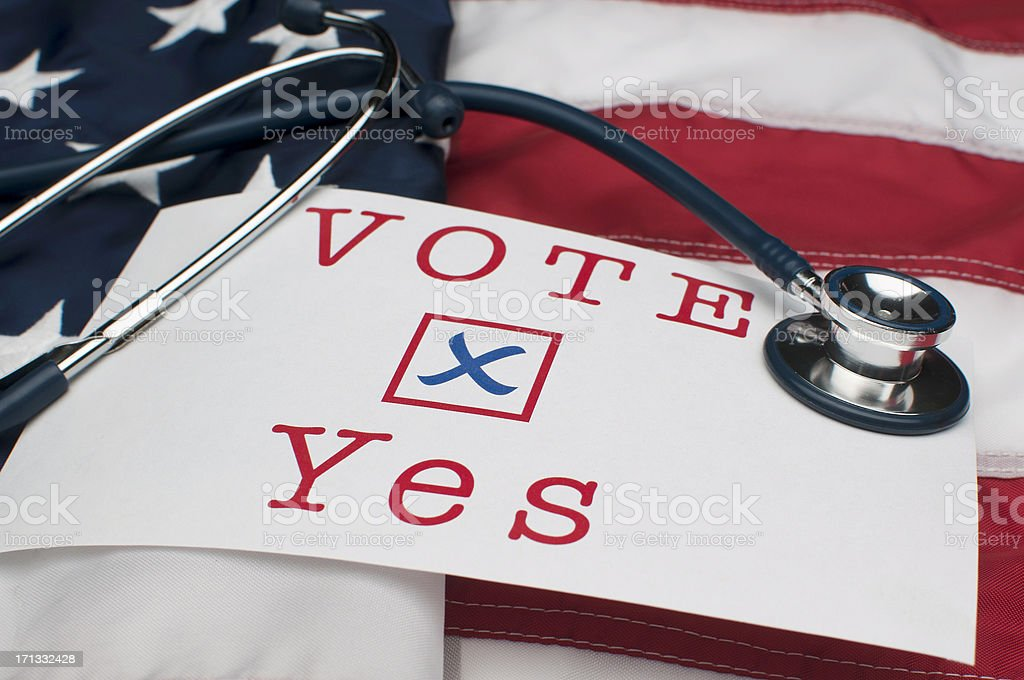 Vote Yes on US Healthcare royalty-free stock photo