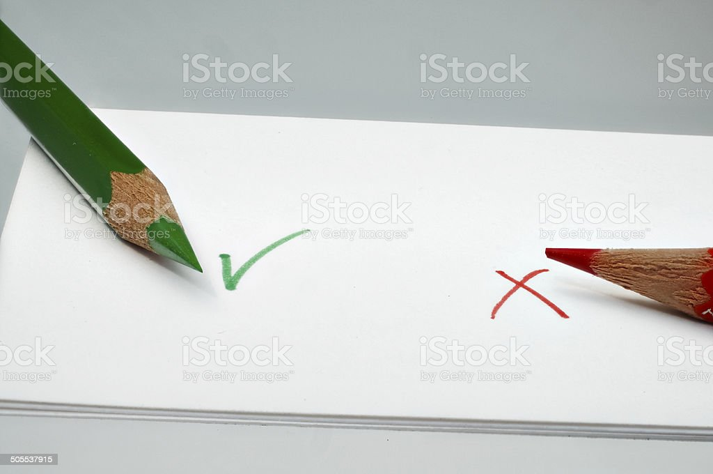 Vote yes or no stock photo