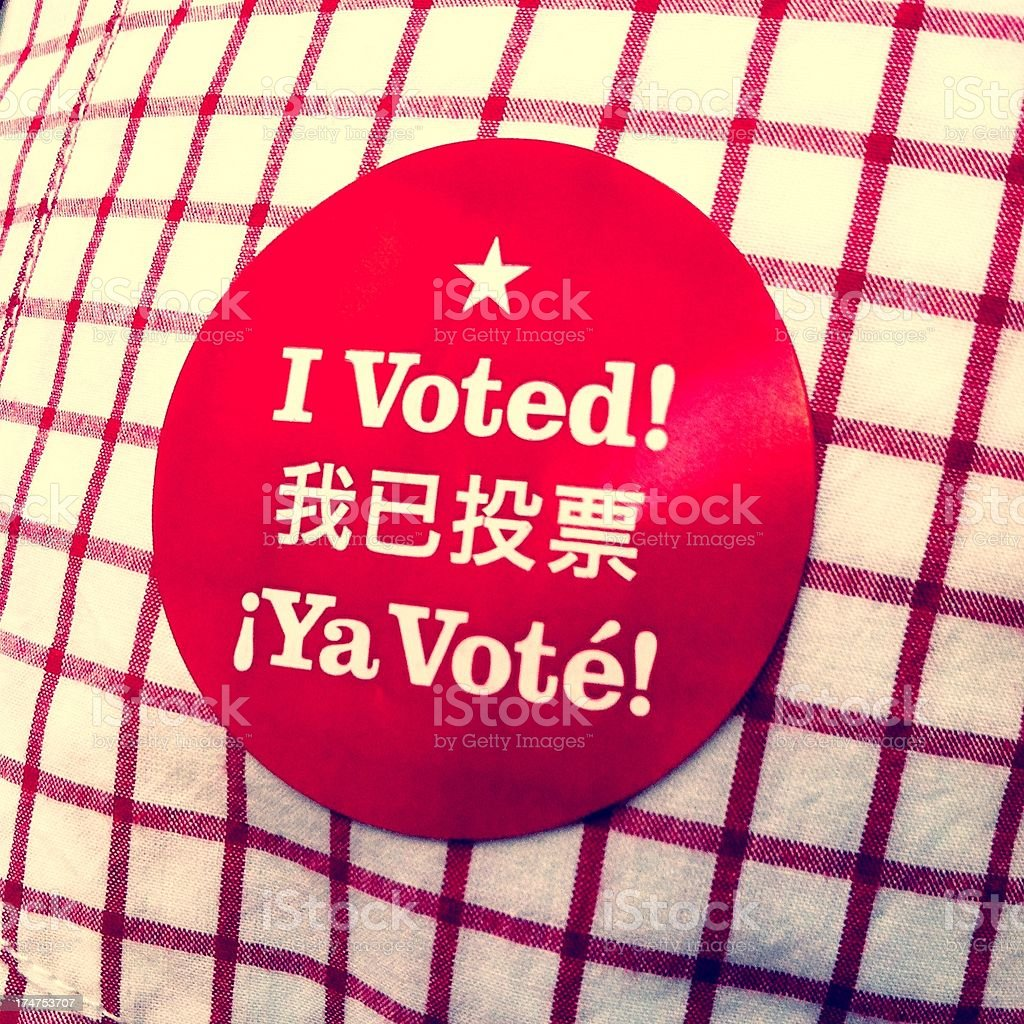 I Voted - 2012 US General Election royalty-free stock photo