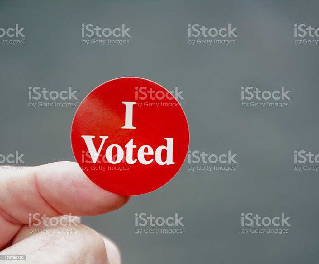 I Voted! royalty-free stock photo