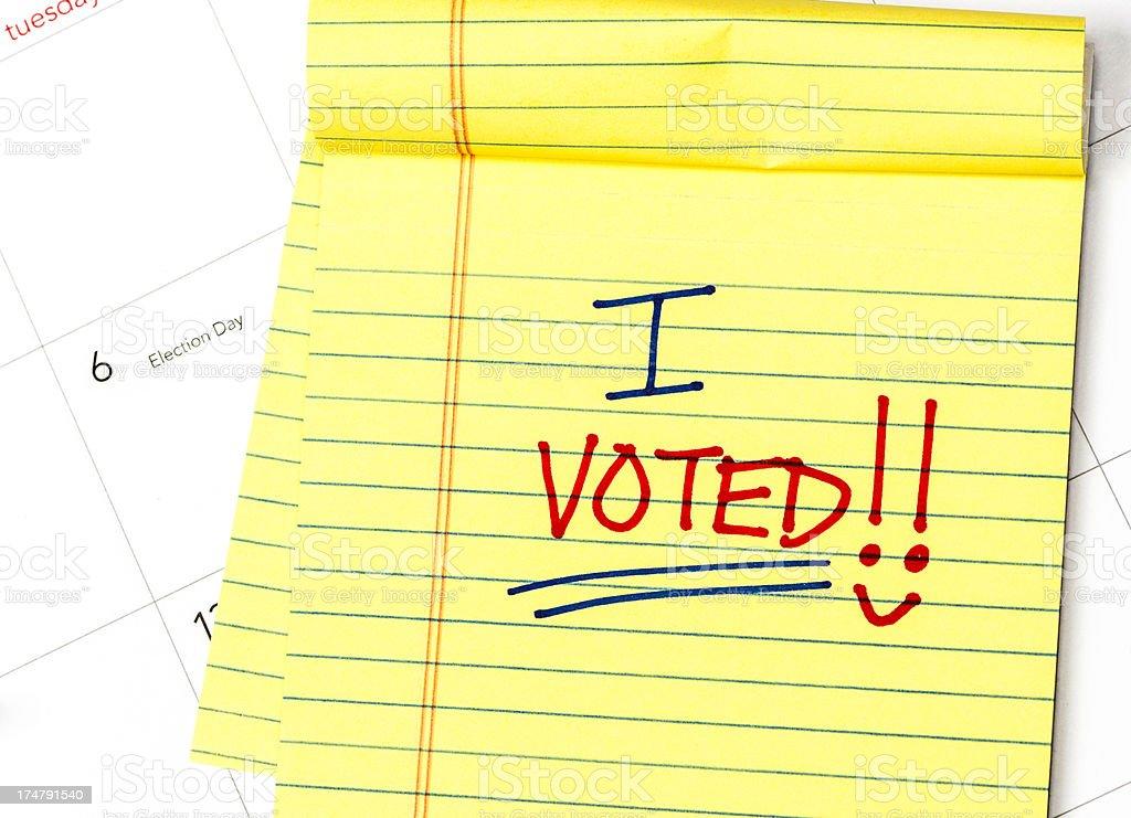 I Voted! stock photo