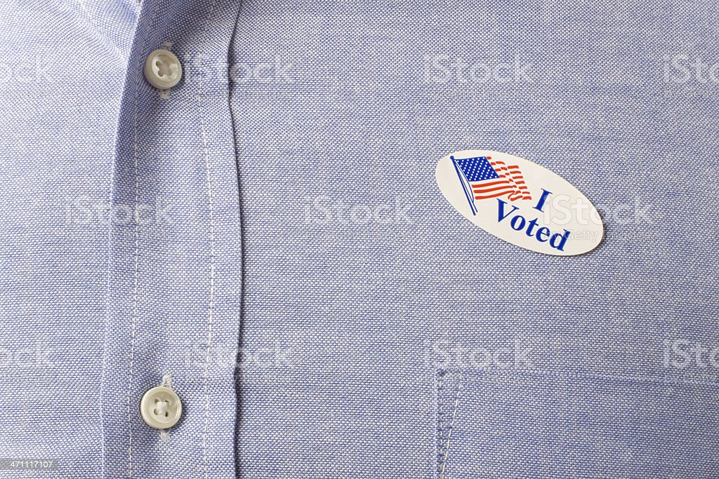 I voted (XL) stock photo