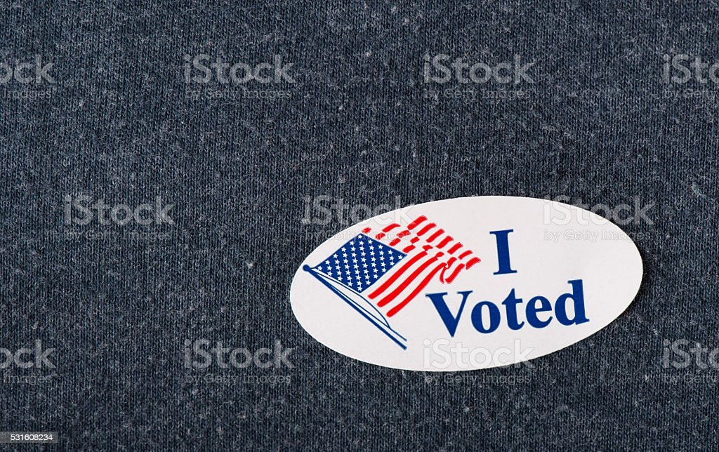 'I voted' sticker stock photo
