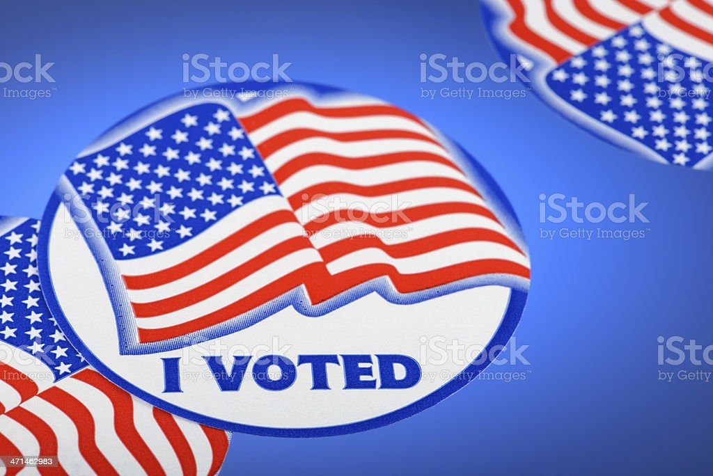 I Voted Stickers royalty-free stock photo